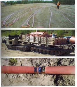 полевые рукавные трубопроводы