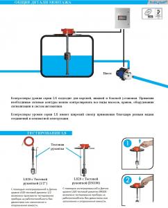 Вертикальные магнитно-поплавковые датчики уровня серии LS
